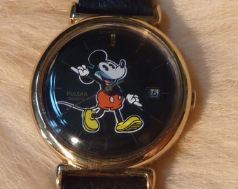 Vintage Pulsar Mickey Mouse Ladies Watch