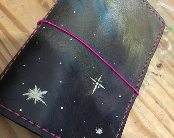 Galaxy scene custom UglyDori - All size Traveler's Notebooks regular, pocket, a6, a5 and personal planner