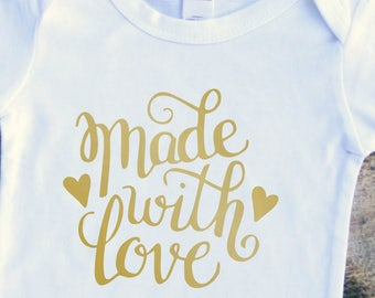 Made with love baby boy girl bodysuit