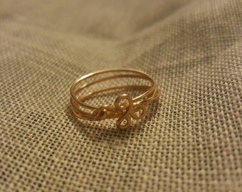 Gold wire wrap ring size 6.5