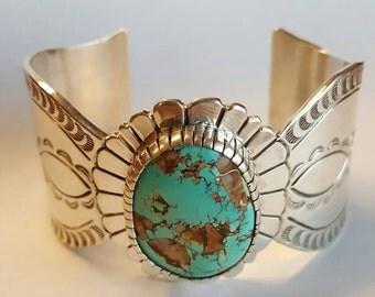 Sterling Silver Stamped Cuff Bracelet