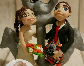 Wedding cake toppers (with props)