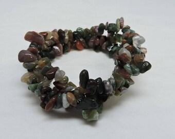 Gemstone Tri Twist Bracelet