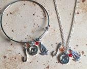 Polynesian Princess  Charm Necklace Bangle or Keyring