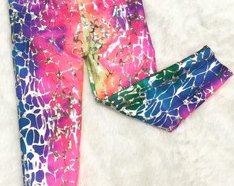 READY TO SHIP-Baby Toddler Kids Sparkle Unicorn Leggings-Rainbow Sparkle Leggings