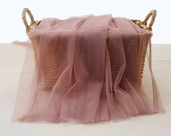 Fine Soft Tulle in a Beautiful Mauve Color. Imported