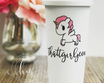 Personalized Unicorn Travel Mug