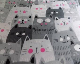 Cats Smiling hand tied fleece blanket