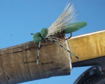"3-pack ""Foam Hopper"" flies, fly fishing flies, hand-tied flies, hopper flies, terrestrial flies, Trout flies,dry flies"