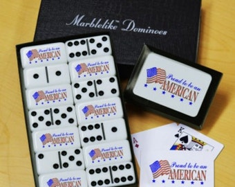 Proud Dominoes & Playing Cards Gift Set
