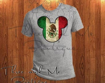 Mexican Flag Inspired Mouse Ears; Mickey Mouse Inspired Mexico Ears