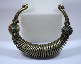 Antique Ethnic Spiral Torque from Nuristan Afghanistan Swat Valley Pakistan TJ 128