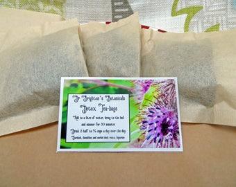 Dr Brighton's Botanicals natural herbal dandelion and burdock detox tea bags