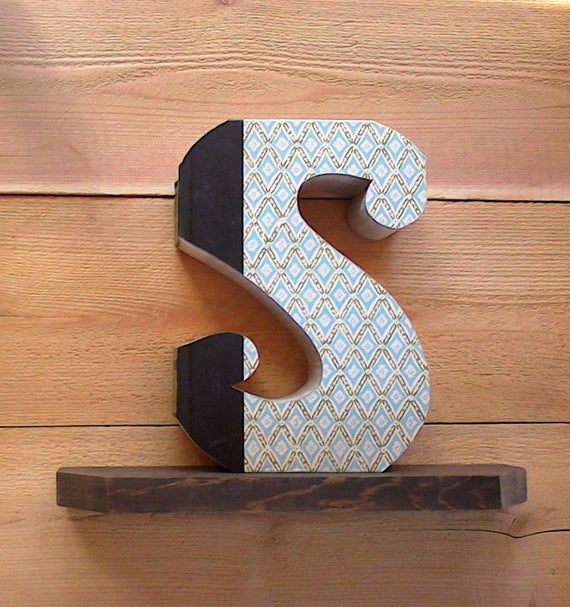 Book letters s362ady made letter cut letter books like this item spiritdancerdesigns Images