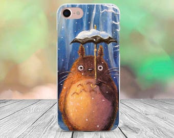Totoro iPhone 5 case clear iPhone 5s case iPhone 6 Plus case iPhone 6s case iPhone 7 case iPhone 7 Plus case iPhone 5C case iPhone SE case