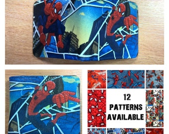 Spiderman, mens wallet, 12 patterns to choose from