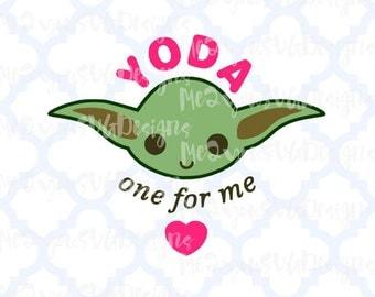 Yoda Valentine SVG,EPS,PNG,Studio