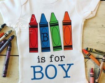 B Is For Boy Crayola Crayon Bodysuit