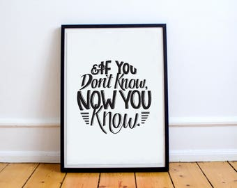 If You Don't Know Now You Know, Biggie Smalls, The Notorious B.I.G., Lyrics Print