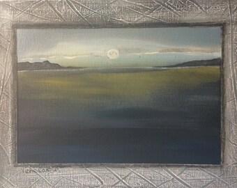 Cape cod moon at dusk