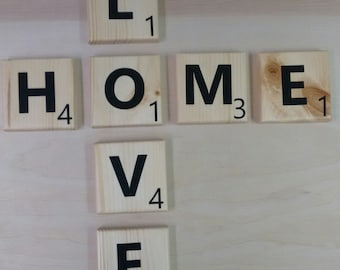 Large Wall Scrabble Inspired Tiles