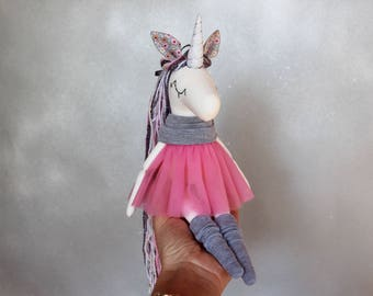 Baby Unicorn- Handmade Toy-Rainbow Unicorn- Textile Toy-Stuffed Unicorn toy-Bithday gift-Unicorn Doll