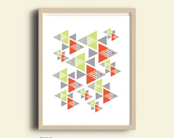Geometric print, kids room, geometric pattern, mid century art, nursery art, wall art modern art, bright colors, minimal art, kitchen art