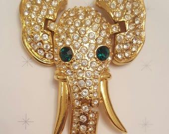 Elephant Shoulder Brooch