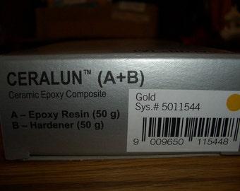SALE 25% - Swarovski CeralunTM - Gold - 2 x 50gr