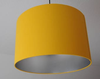 "Lampshade ""Curry yellow silver"""