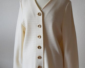 Pure Lush Collection | Creme Chanellike Cardigan | Size M & L
