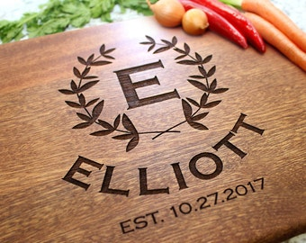 Personalized Cutting Board - Engraved Cutting Board, Custom Cutting Board, Wedding Gift, Housewarming Gift, Anniversary Gift W-044 GB