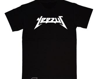 YEEZUS T Shirt - Old School Hip Hop - KANYE WEST - White Print
