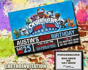 Skylanders Invitation / Skylanders Birthday / Skylanders Party / Skylanders Birthday Invitation / Skylanders Invite / Skylander Party Invite