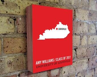Louisville Cardinals - University of Louisville - Louisville KY - Louisville Art -  College Graduation Gift