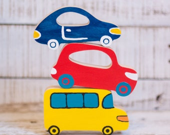 Wooden Car Toys | Plywood Transport For Kids | Modern Automobiles For Nursery | Baby Shower Gift | Eco-friendly Toys For Boys And Girls