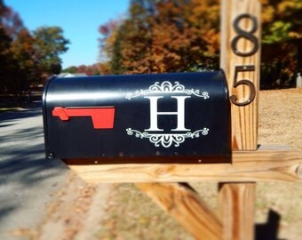 Monogram Mailbox decal - personalized mailbox - mailbox sticker - mailbox initials - custom mailbox - decor - set of 2 - monogram mailbox -