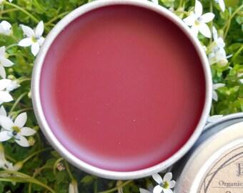 Organic Botanical lip tint//plant-based//pomegranate