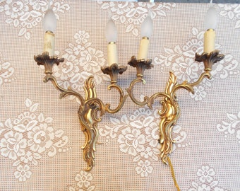 French Vintage Bronze Sconce Wall light/Sconce