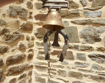 Vintage Bronze Church Bell - Wall Hanging