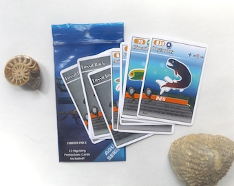 Prehistoric Sea Creature Trading Card Game (Starter Pack 12 Cards)