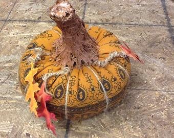 PRICE REDUCED Handmade fabric pumpkin