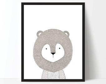 Nursery Print, Nursery Art, Childrens Art, Kids Art, Nursery Printable, Animal Print, Kids Animal Art, Animal Digital Print, Nursery Poster