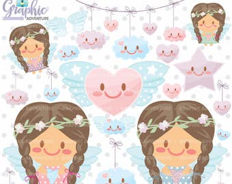 75%OFF - Angel Clipart, Angel Graphics, COMMERCIAL USE, Kawaii Clipart, Cloud Graphics, Cloud Clipart, Angel Party, Wing Clipart, Clipart