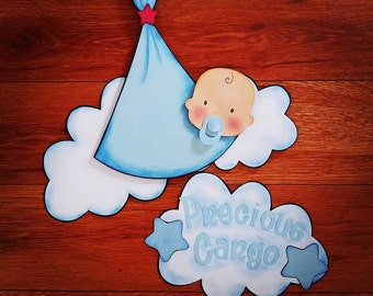 3D Airplane Clouds with Baby Shower Party Decorations or Birthday Party