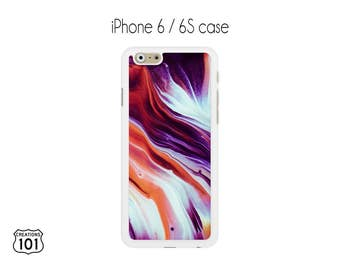 Marble iPhone Case, iPhone 6/6S Case, Orange iPhone Case, Purple iPhone 6 Case, iPhone 6S Case, IPC1024