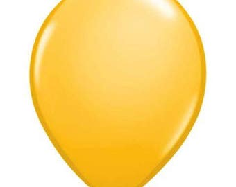 YELLOW BALLOONS 5 x 28cm - Set of 5 Standard Size Yellow Balloons  (11 inches / 28cm)