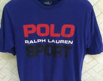 vintage 90s polo sport tshirt big logo spell out