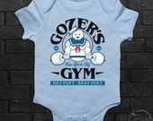 Marshmallow Man Inspired Stay Ghost Puft Gym Gozer Fitness Busters 80s Babies Clothing Baby Grow Bodysuit Newborn Onesie Tshirt All Size