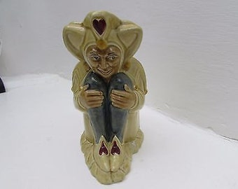 Vintage Pack Of Cards series Jester Toby Character Jug - HJ Wood
